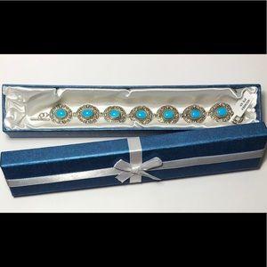 Jewelry - Sleeping Beauty Turquoise Silver Toggle Bracelet